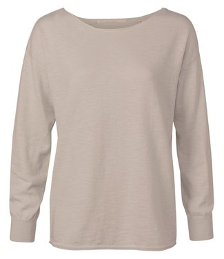 YAYA 1000289-121  Boatneck sweater in a cashmere blend with long sleeves