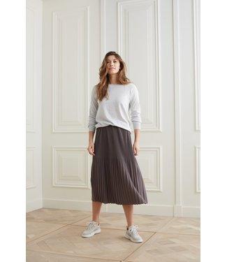 YAYA 1409103-121  Jersey midi skirt with pleats
