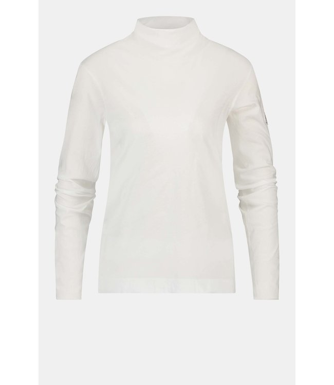 PENN&INK W21F988  coll neck offwhite