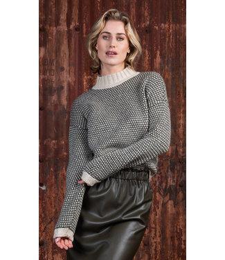 Poools 133201  Sweater 3 col. Pebble