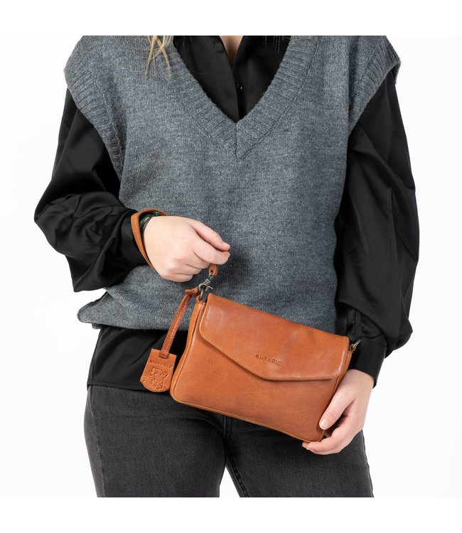 Burkely 1000116.84.24 Just Jackie Crossover clutch M cognac