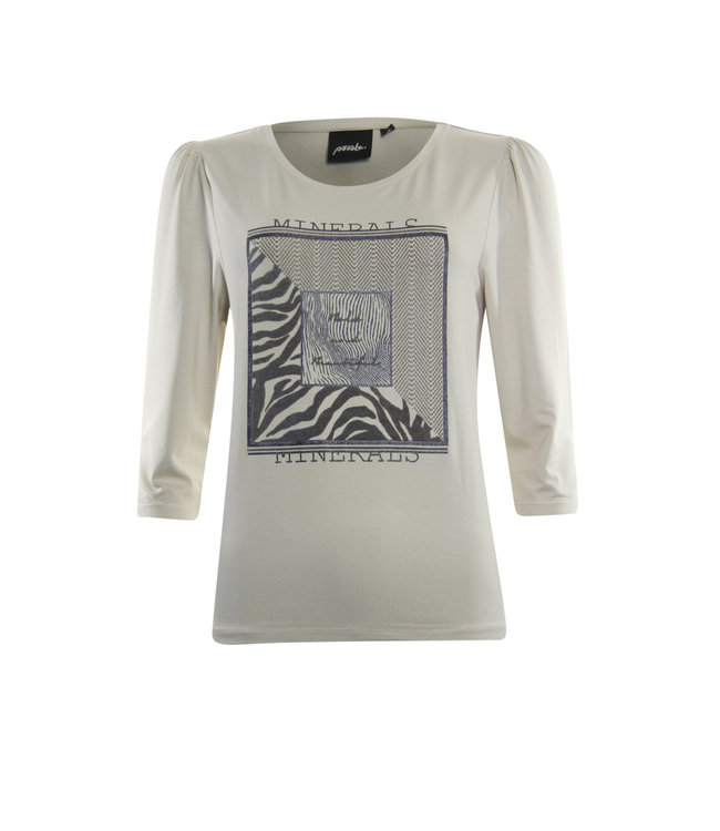 Poools 133183  T-shirt square Pebble