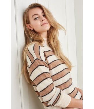 YAYA 1000470-122  Multi colored striped sweater with long sleeves
