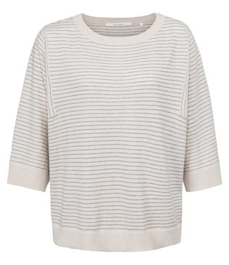 YAYA 1000478-122  Short sleeves sweater with stripes in different directions