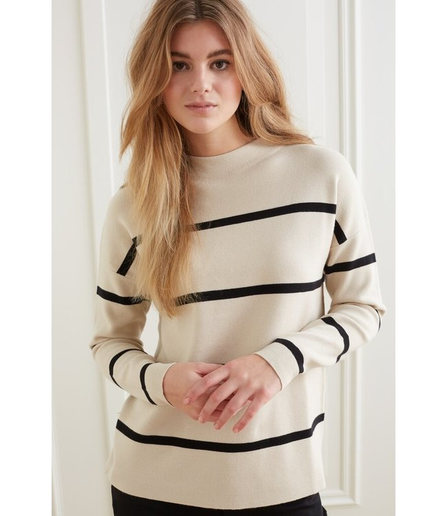 YAYA 1000527-122  Sweater with stripes and long sleeves