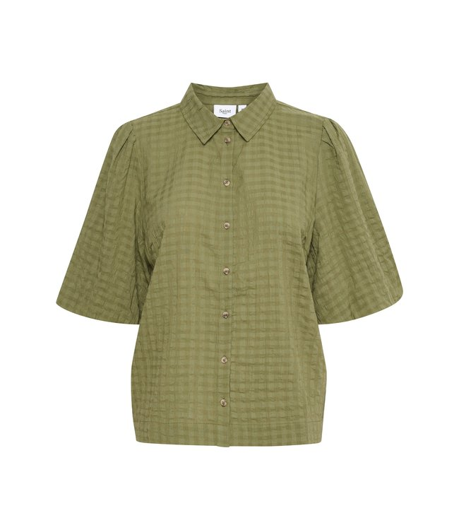 Saint Tropez 30511308-armygreen HirliSZ blouse