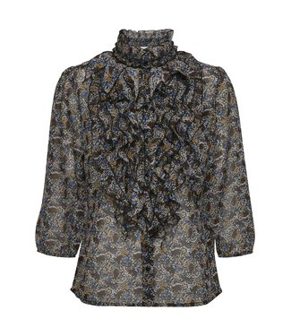 Saint Tropez 30510392 LillySZ 3/4 Shirt black branches