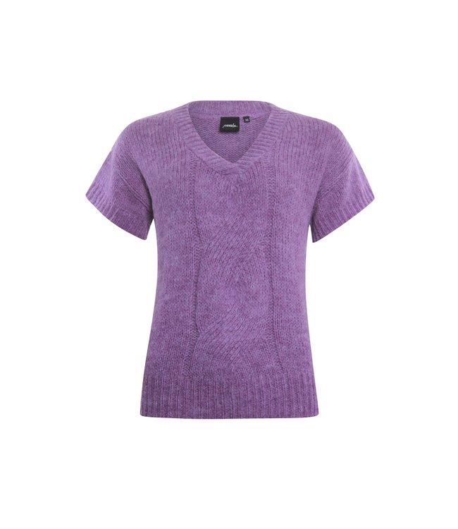 Poools 133221  Sweater v-neck Mauve