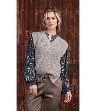 Poools 133107  Pullover sleeveless Pebble