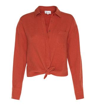 Les Favorites 5653114  Fien Mousseline blouse Orange clay