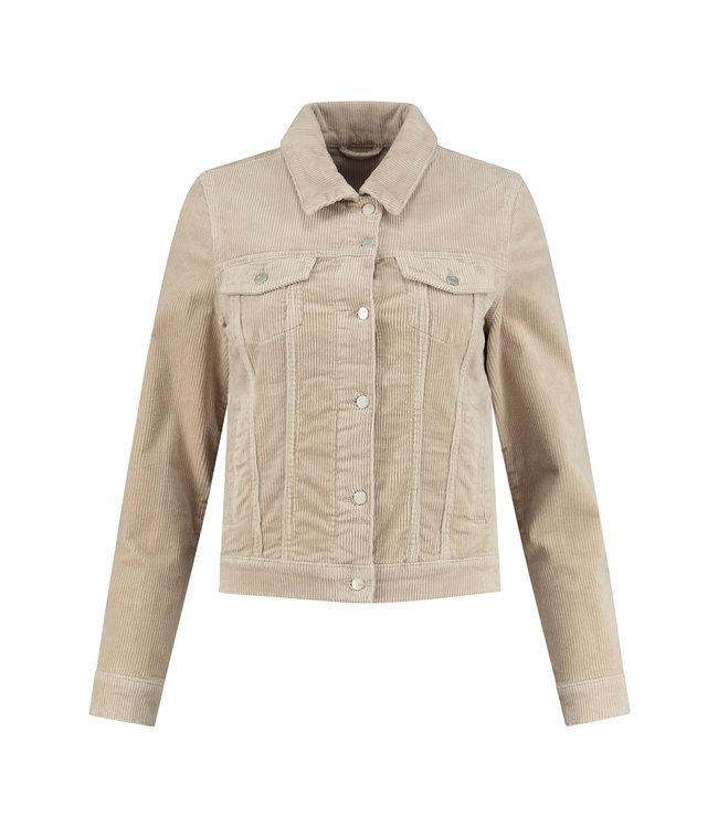 Para Mi FW211.104160-beigemarble  Mae Jacket Vintage Corduroy