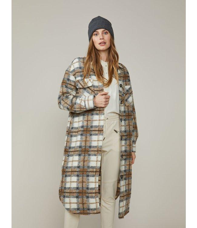 Summum Woman 1s1028-11461  Coat brushed check