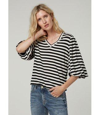 Summum Woman 3s4587-30287  Top short slv viscose ea stripe