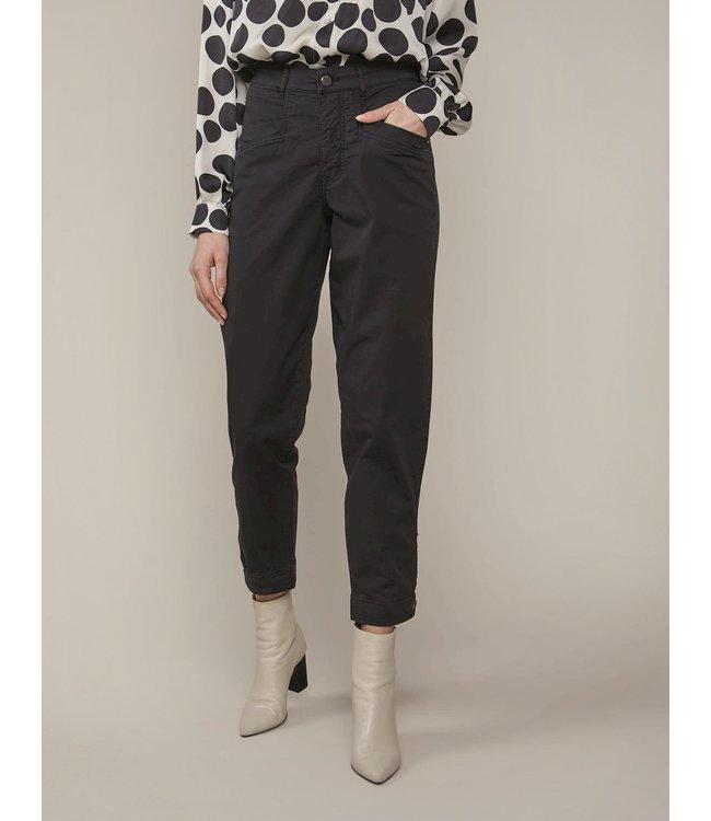 Summum Woman 4s2156-11430  Loose tapered pant crispy cotton twill