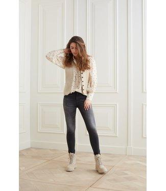 YAYA 1201168-123  High waist skinny denim in a cotton blend fabric
