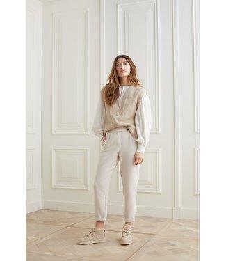 YAYA 1211087-123  High waist pantalon in a viscose blend fabric