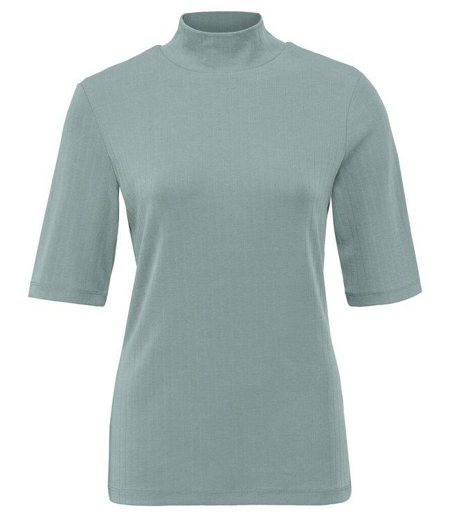 YAYA 1909484-123-greyishgreen High neck rib top