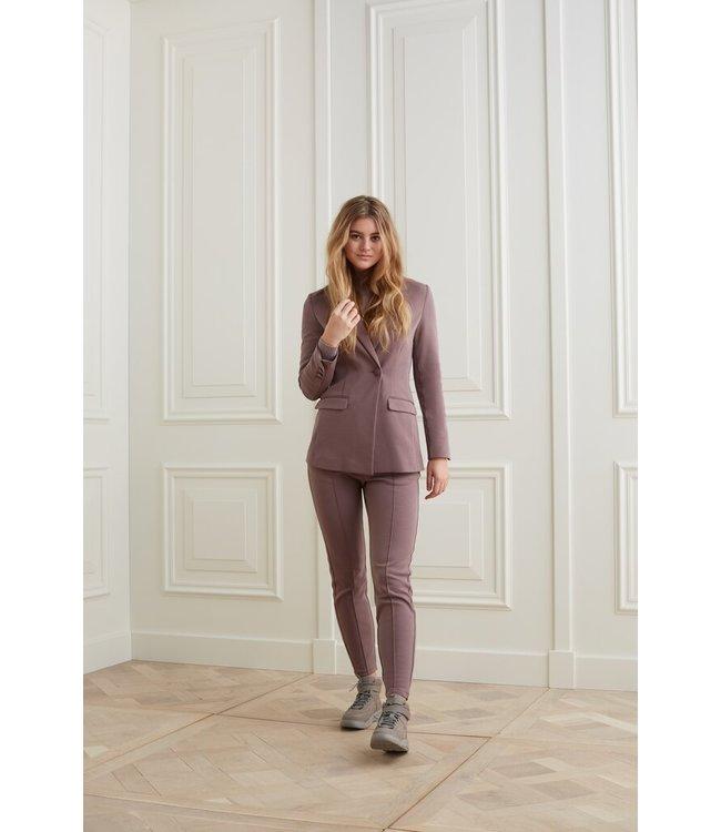 YAYA 1509091-123  Scuba blazer in a cotton blend fabric
