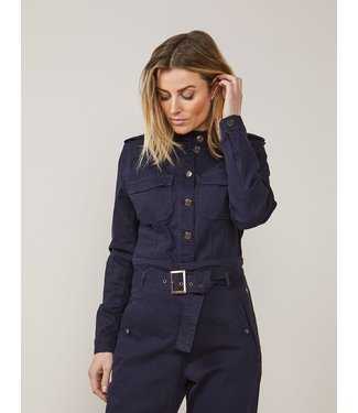 Summum Woman 1s1034-11322  Fitted jacket fine twill
