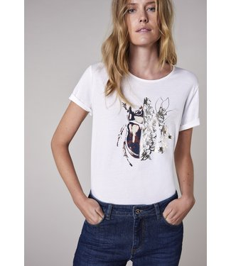 Summum Woman 3s4576-30285  Tee beetle artwork cotton modal ecovero