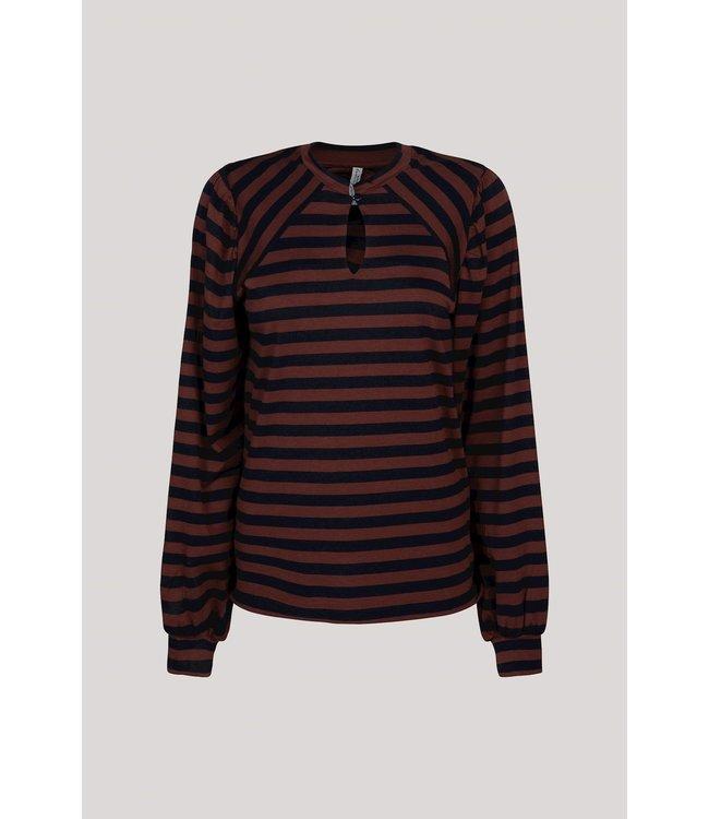 Summum Woman 3s4581-30287  Top puff sleeve viscose ea stripe