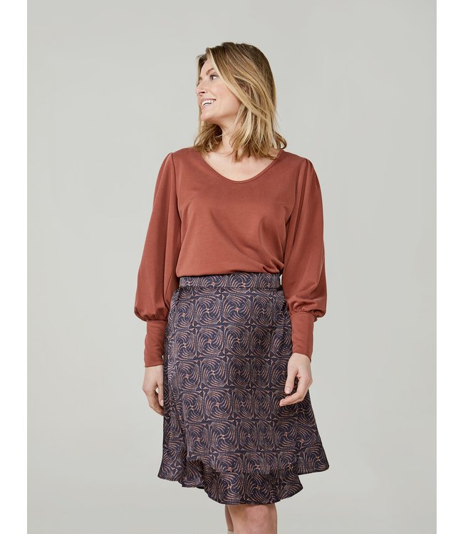 Summum Woman 3s4585-30277  Top puff sleeve washed modal pique