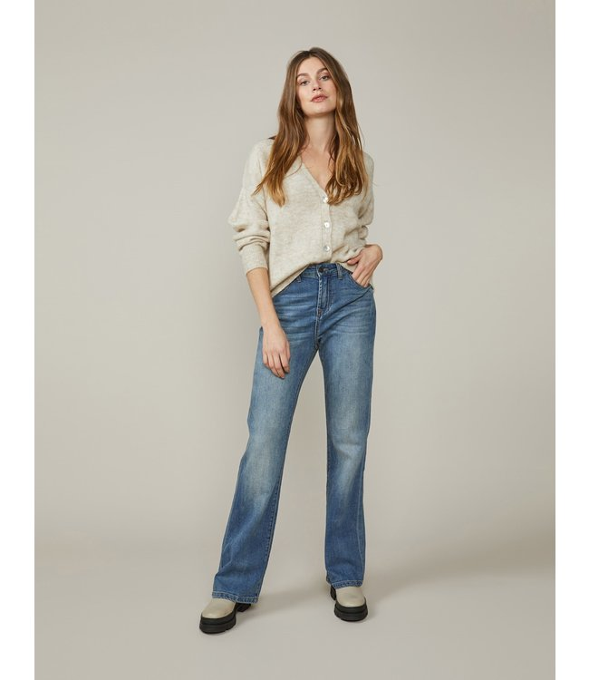 Summum Woman 4s2153-5081  Flared jeans light weight organic cotton