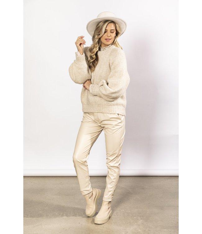 NUKUS FW216209  Femme Pullover Sand