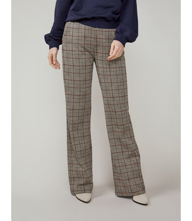 Summum Woman 4s2191-30267  Trouser check jacquard