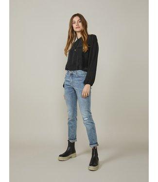 Summum Woman 4s2154-5086  Tapered jeans rain denim