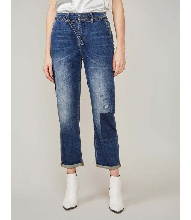 Summum Woman 4s2169-5086  Straight jeans rain denim