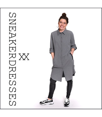 Sneakerdresses 21AW020-antra  Dress button