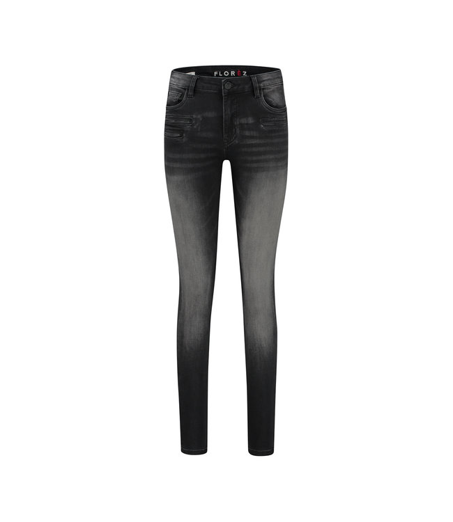 Florez CharmeurZip-black  Skinny jeans