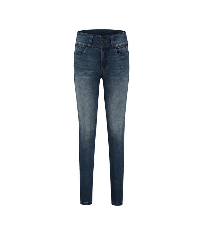 Florez BodineZip-bgblue Jeans high waist