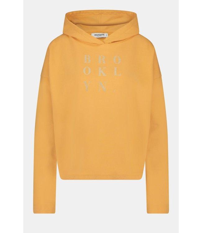 PENN&INK W21F968  hoodie print orange