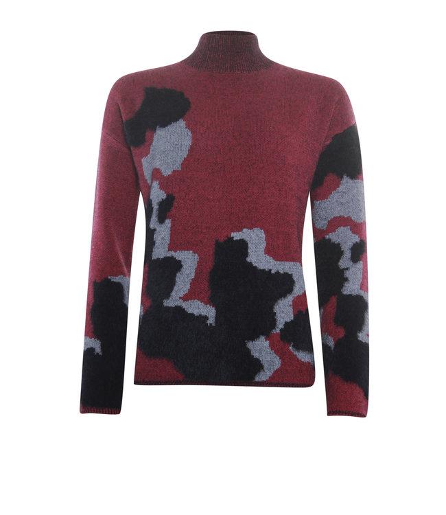 Poools 133196  Sweater big spots Cerise