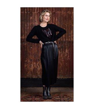 Poools 133257 Skirt coated Black