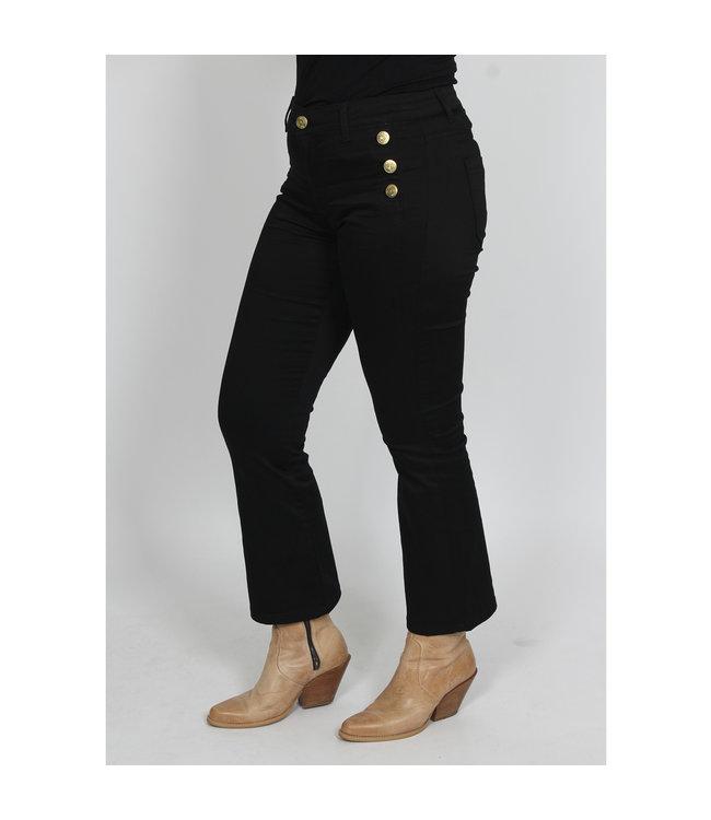 I Say 56812-900-black  Lido Button Jeans