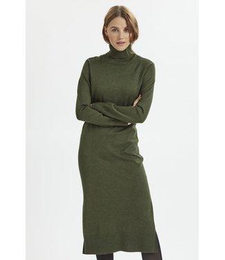 Saint Tropez 30511420 MilaSZ Roll Neck Long Dress army green
