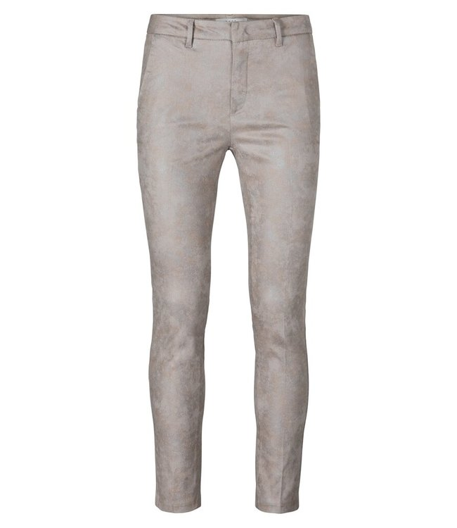 YAYA 1201192-124  Printed stretch trousers in a cotton blend