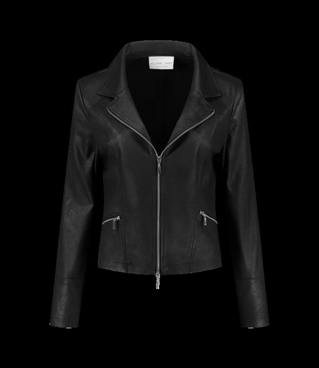 Helena Hart 7288-black  Zipper biker jacket