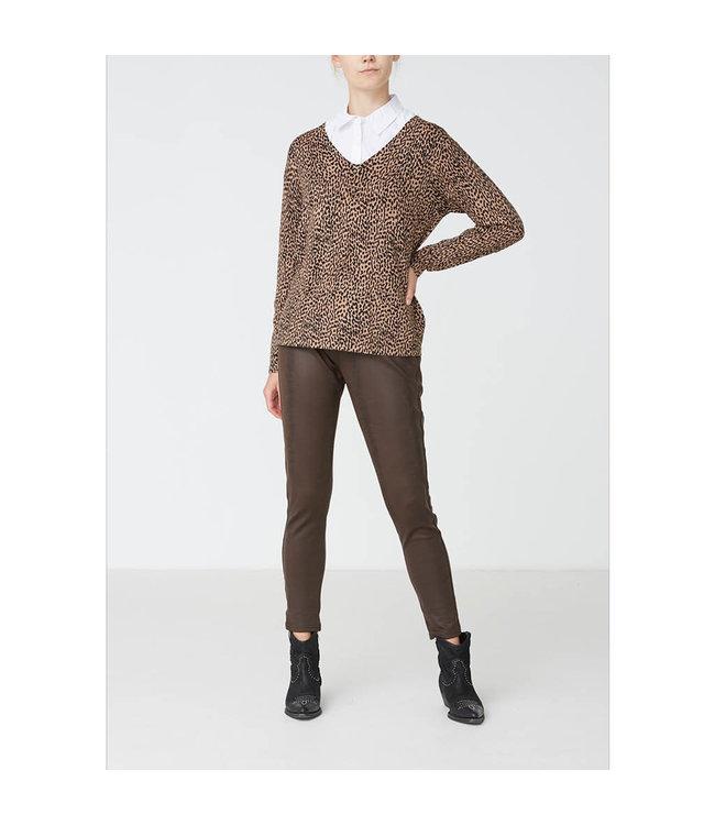 I Say 56581-darkbrown  Helena PU Legging