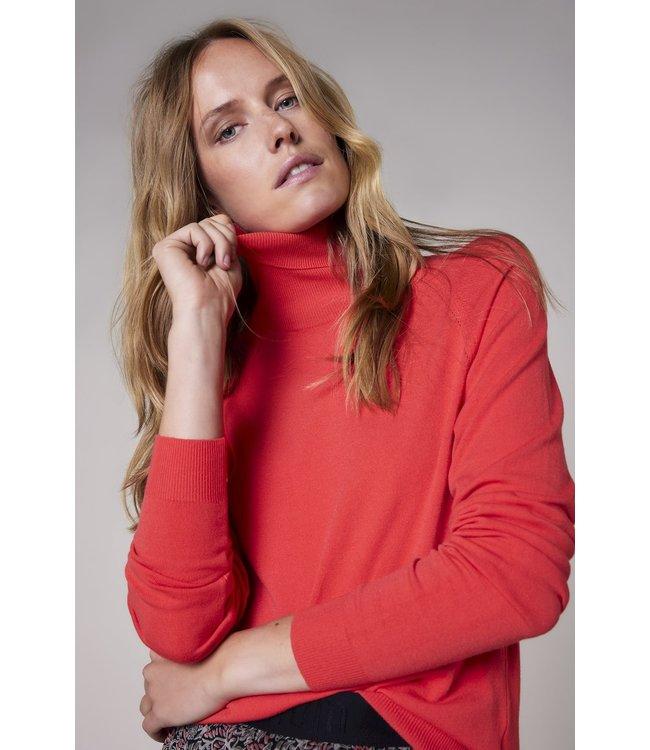 Summum Woman 7s5529-7848  Turtle neck sweater basic knit