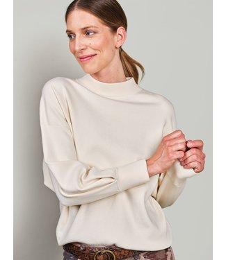 Summum Woman 7s5607-7831  Mock neck sweater full needle knit