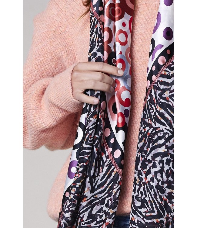 Summum Woman 8s773-8400  Circles scarf patchwork