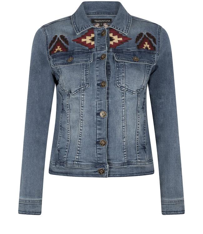 Tramontana Q09-01-801 Jacket Denim Embroidery denim blue