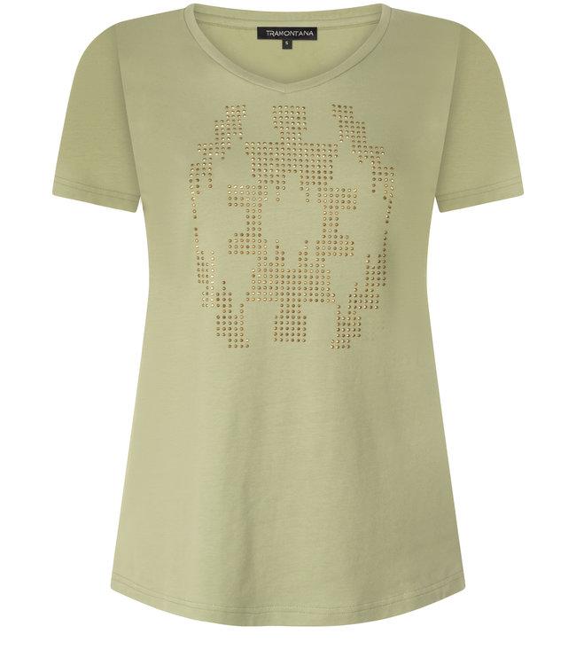 Tramontana Q30-01-402 T-Shirt Studs Figure pistache