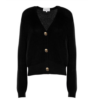 Les Favorites 8553147  Sienna cotton cardigan Black