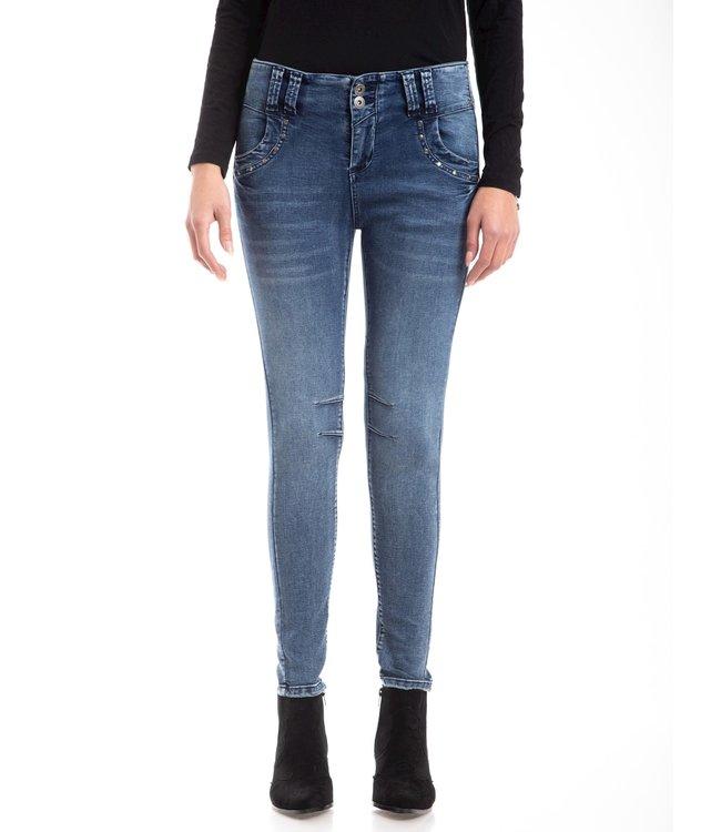 Bianco jeans 221407-STEVIE-BLUE  BOY FRIEND TROUSER