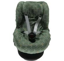 Autostoelhoes 1+ Rugsteun Deco Groen